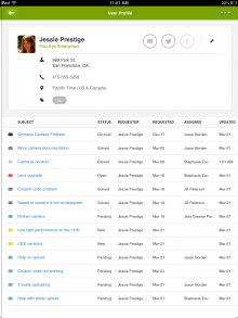 iPad Customer History 220x293 Zendesk updates its iPad app with new reporting dashboard and customer history feature