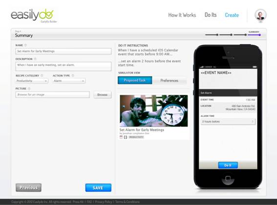 image003 Smart assistant EasilyDo unveils a Web based tool to let you automate everyday tasks