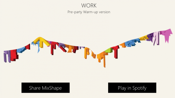 mixshape 2 730x408 Microsoft, Spotify and The Echo Nest launch Mixshape, an engaging tool for ordering playlists