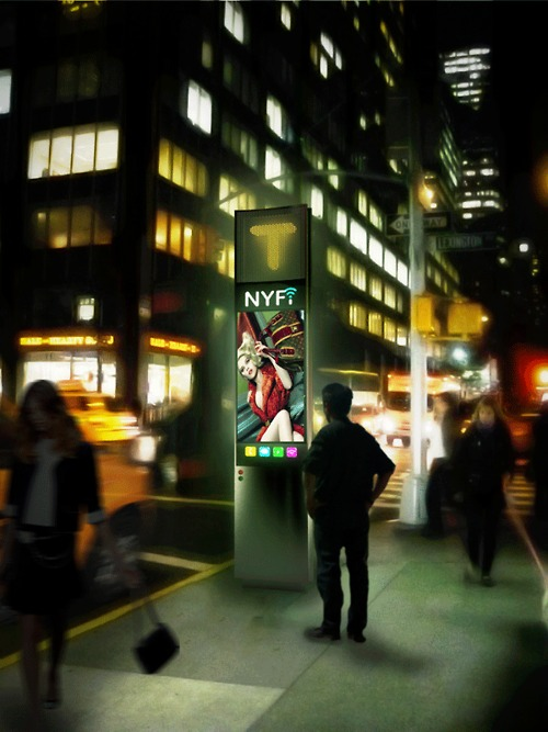 High tech payphone concept with free Wi Fi wins NYC design challenge