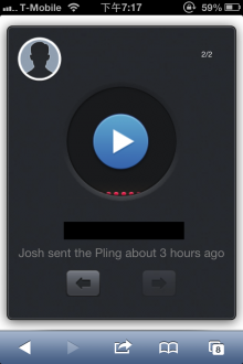 pling 220x330 Pling is a lightweight voice messaging app for iPhone and Mac
