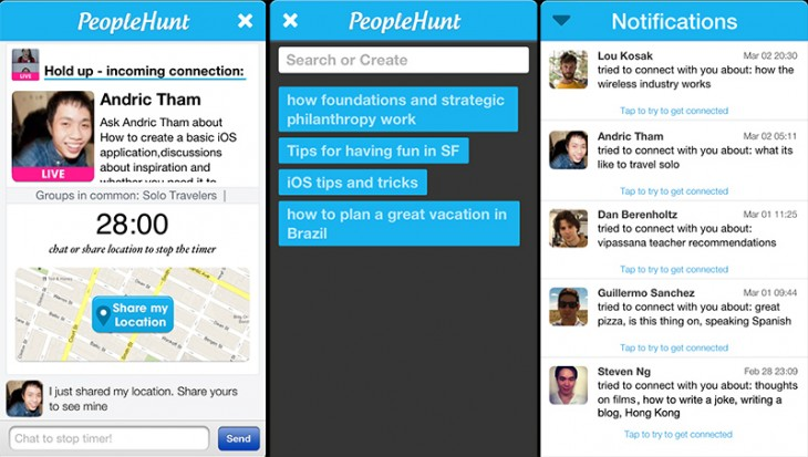 pplhunt 730x413 Meetup for spontaneous get togethers, PeopleHunt, launches worldwide and adds new features