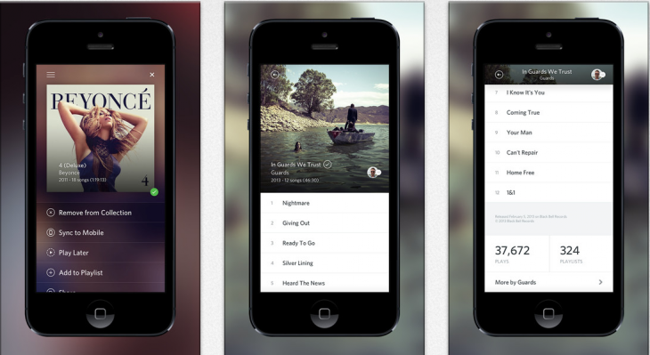 rdio ios 730x399 Rdio updates iPhone app with attractive album and playlist views and social integration