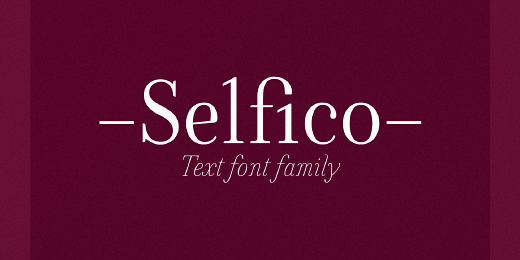 selfico 32 Of the most beautiful typeface designs released last month