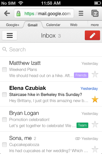 threadlistbigleapweb Google updates design of Gmails Web app for Android, BlackBerry, iOS, Kindle Fire, and Offline app for Chrome