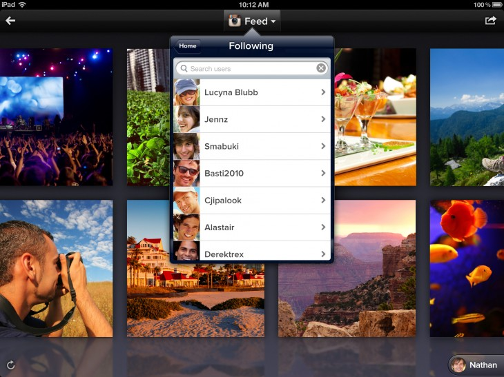2.6 home wall following 730x547 Photo sharing service Cooliris introduces iOS app support for Dropbox and improves image discovery