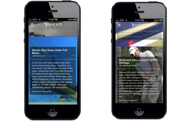 8 730x467 Yahoo re launches iOS app with deep integration of Summly acquisition, redesigned article pages