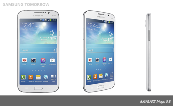 GALAXY Mega 1 Samsung announces the Galaxy Mega, a 6.3 or 5.8 monster Android smartphone launching in May