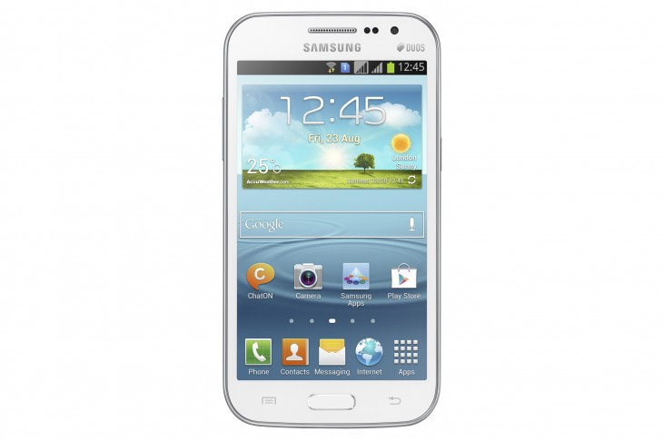 GALAXY Win DS Product Image 1 730x486 Samsung lifts the lid on the Galaxy Win, a new mid range 4.7 inch Android smartphone
