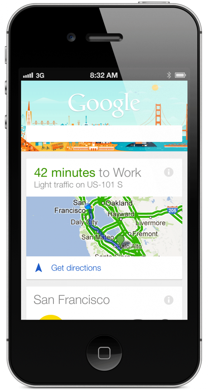 San Francisco Home 730x1368 Google Now comes to iOS, missing a few options but none of the utility