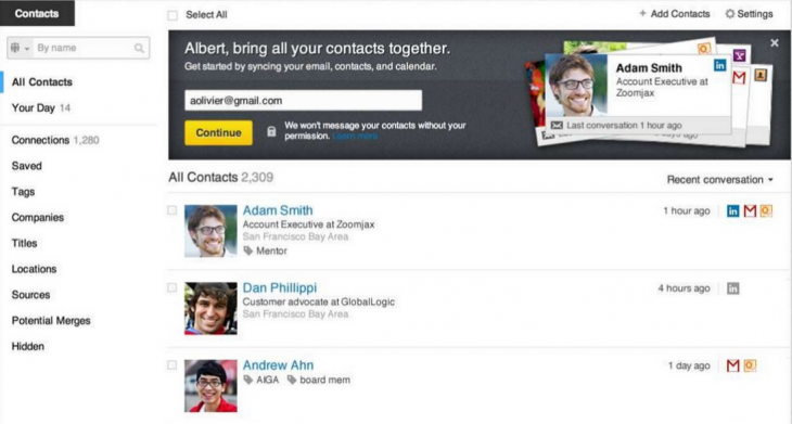 Screen Shot 2013 04 24 at 11.37.04 PM 730x391 LinkedIn unveils Contacts, a Web and iOS app to help people network and foster stronger relationships