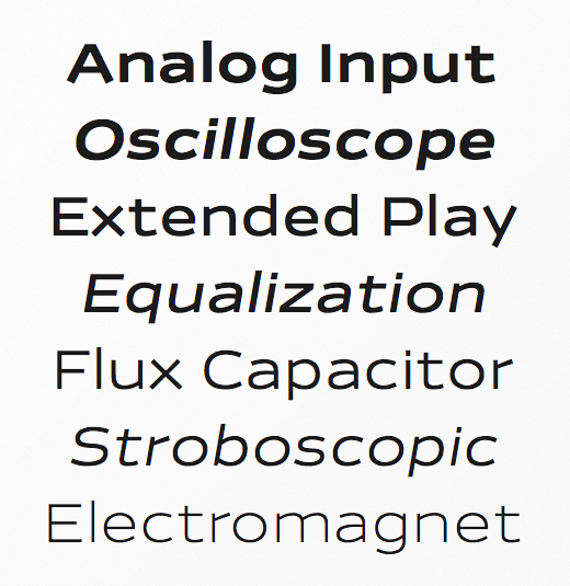 analog 23 Of the most beautiful typeface designs released last month