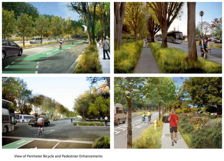 applecampus streetenhancements 730x524 Apple updates Cupertino Campus 2 proposal with additional bike paths, street renderings and parking