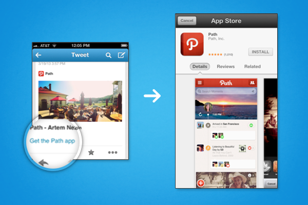 blog image 11 Twitter for iOS updated with support for its new app install and launching Cards