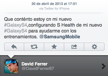 iphone samsung Pro tennis player David Ferrer accidentally tweets praise for Samsung Galaxy S4 from an iPhone