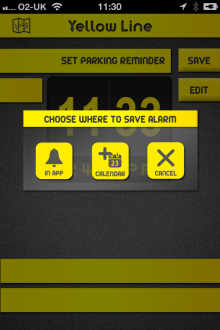 k1 220x330 Yellow Line for iOS gives London drivers local parking information and records where they left their car