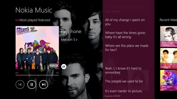 nokia2 730x410 Nokia launches its Music+ subscription service on Windows 8 and Windows RT