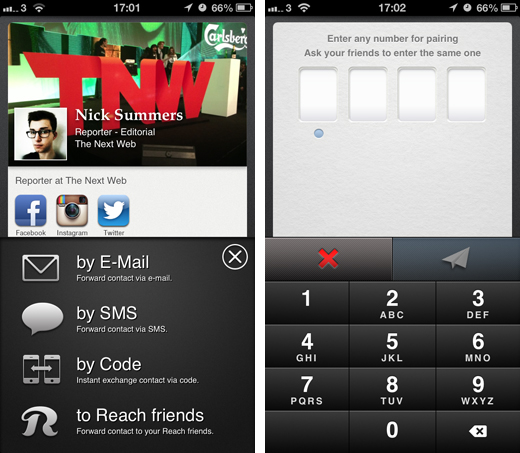 reach1 Reach Network is an address book app for iOS that updates your contacts' information in real time