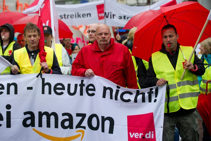 168700912 730x487 Amazon employees stage second one day strike in Germany over pay and working conditions