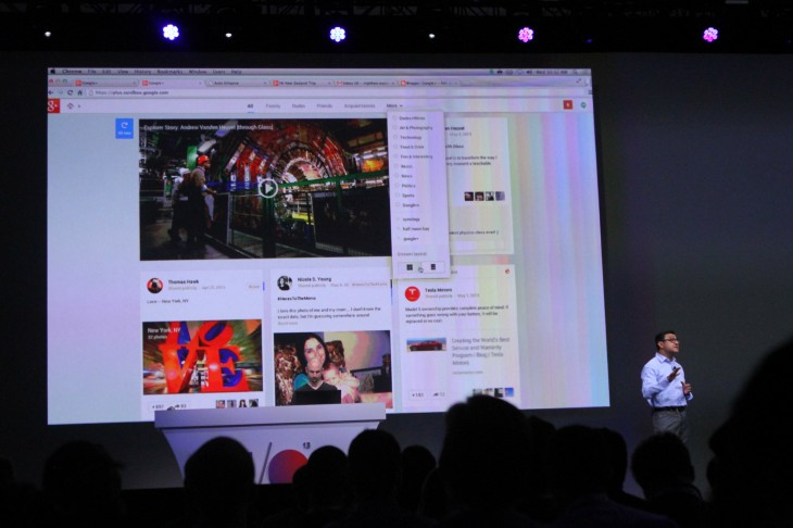 IMG 0559 730x486 Google announces 41 new Google+ features including Pinterest like card based Stream
