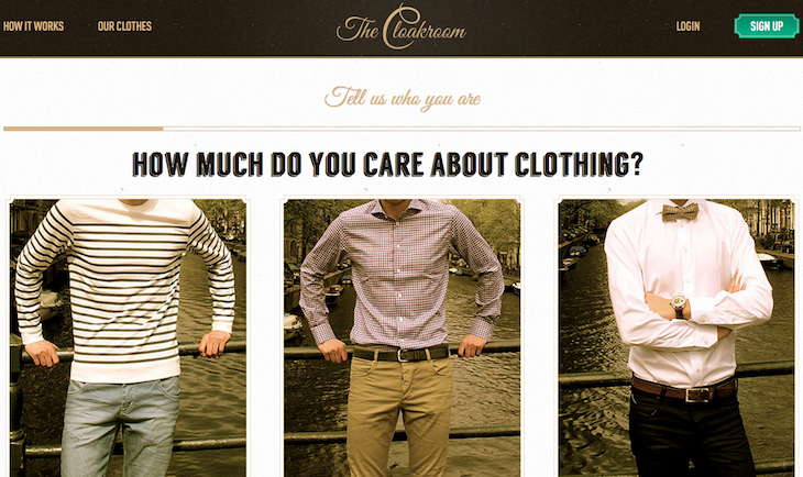 Screen Shot 2013 05 29 at 14.42.28 The Cloakroom raises $100,000 to try and fix online clothes shopping for men