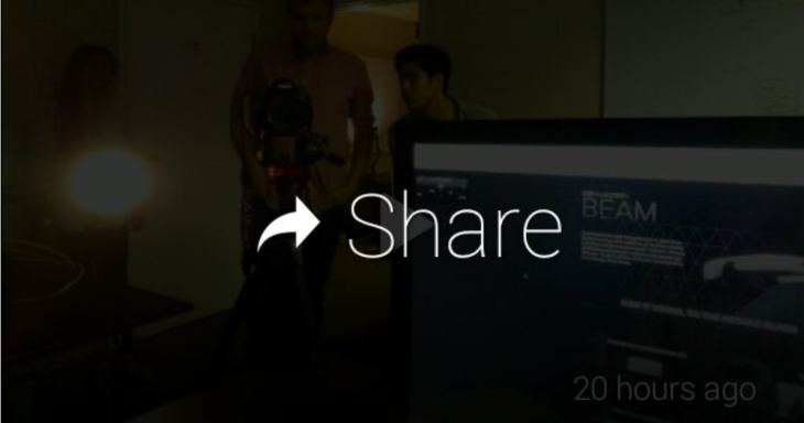 Screenshot 2013 05 03 14 47 21 1 730x384 Fullscreen BEAM: The first YouTube app for Google Glass comes with public or private sharing