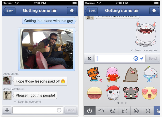 Snap 2013 05 06 at 16.15.47 Facebook Messenger for iOS gets stickers and option to delete messages by swiping