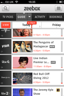 a5 220x330 Zeebox surfaces fresh TV shows with New and Live tags, and arrives for Android tablets
