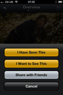 d6 220x330 Limelight for iPhone lets you create and share lists of films youve watched and want to watch