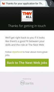 JobFiend lets recruiters create simple mobile optimized forms for candidates to respond through