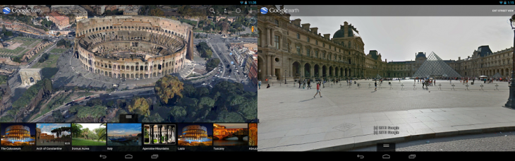 google earth android 730x228 Google Earth for Android gets Street View support, updated search, 3D directions, and improved interface