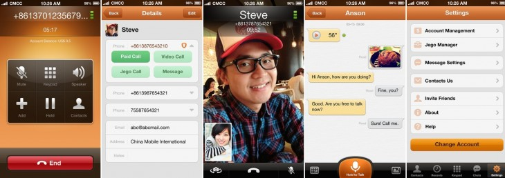 jego app 730x258 China Mobiles Skype competitor, Jego, launches for Android and iOS worldwide