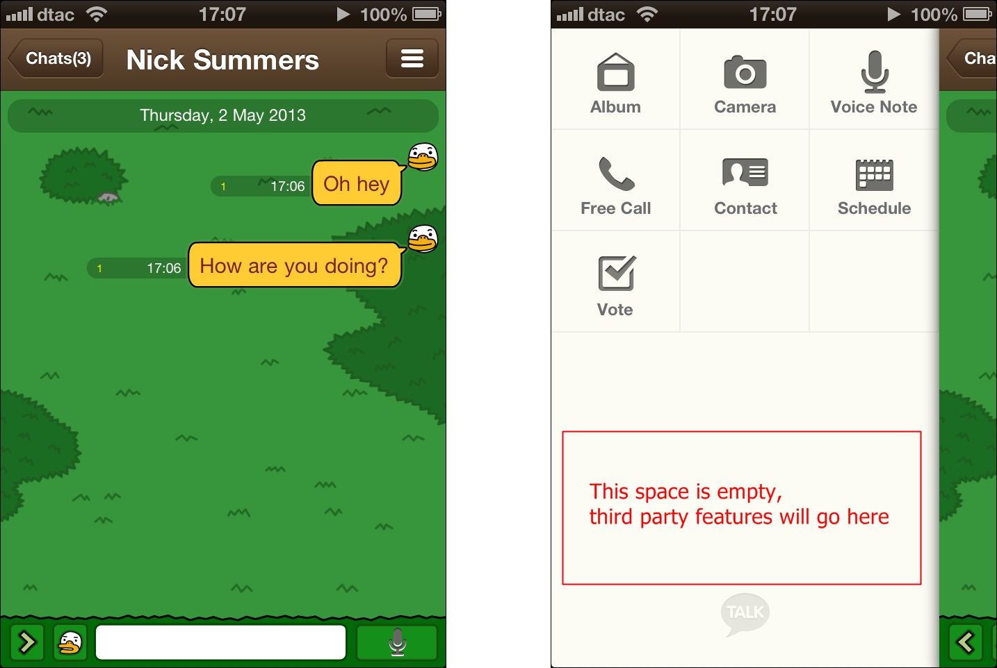 Korean dating chat app