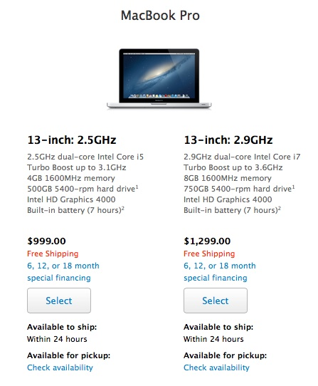 "macbook pro 13 edu may13 Apple drops low end 13"" MacBook Pro without Retina Display to $999 for educational customers"