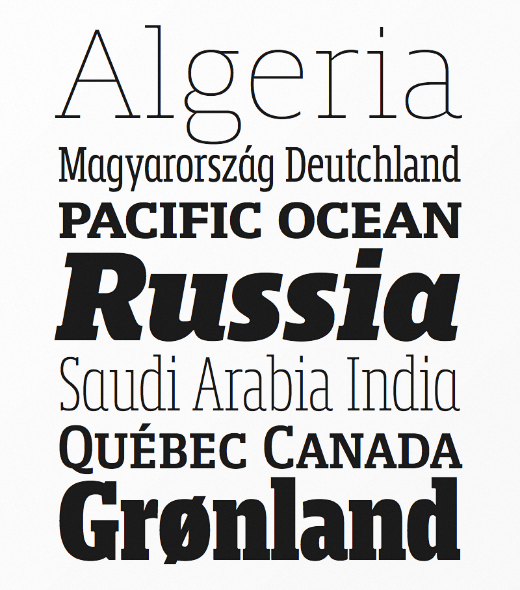 mislab 30 of the most beautiful typeface designs released last month (April)