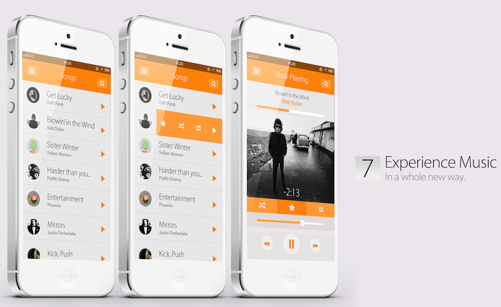music ios7 concept design A stunning concept of what Apples iOS 7 could (and perhaps should) be like [Video]