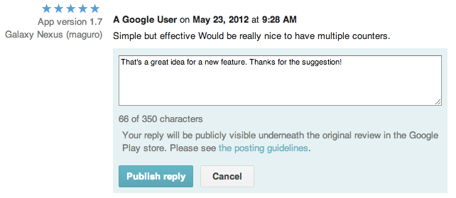 reply reviews Google completes the feedback loop, now lets any Google Play developer reply to app reviews