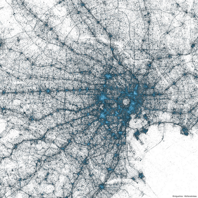 tokyo Twitter creates stunning images of New York City, Tokyo and Istanbul using only geotagged Tweets