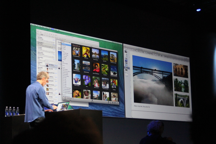 0036 Apple unveils OS X Mavericks, with Finder Tabs, multiple display menus, notifications, iBooks support