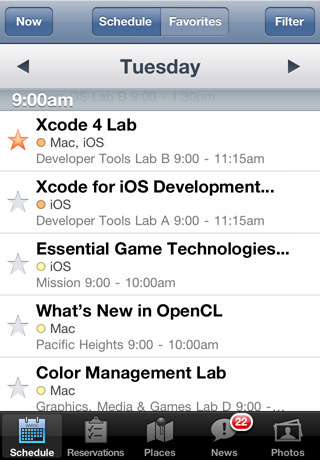 2011 Lets speculate about the WWDC app