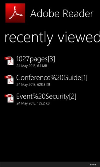 2013 06 03 09h25 01 Adobe Reader arrives for Windows Phone 8, featuring copy and paste, search, and zoom