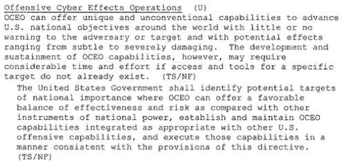 2013 06 07 12h30 14 In October 2012 President Obama ordered overseas cyber targets be identified