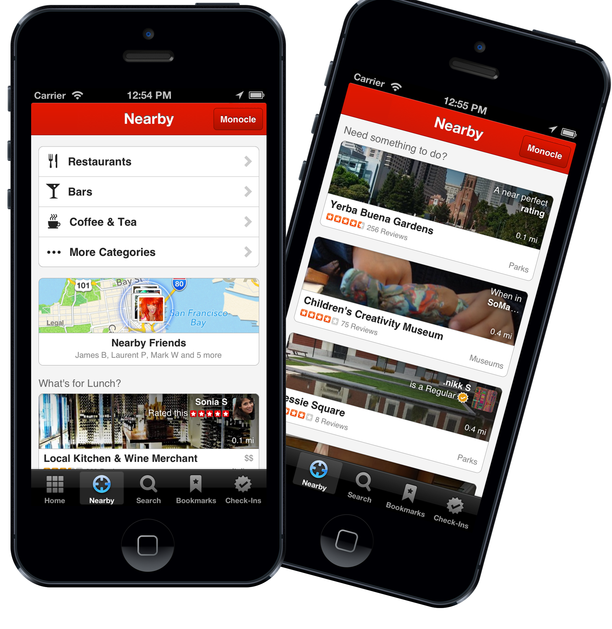 6a00d83452b44469e201901d3ac85e970b Yelp revamps Nearby feature for iOS with suggestions based on location, check ins, reviews, friends, and more