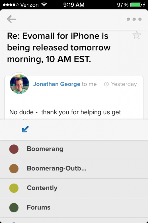 IMG 0618 520x780 Evomail brings its gorgeous email client to the iPhone and its now available for free