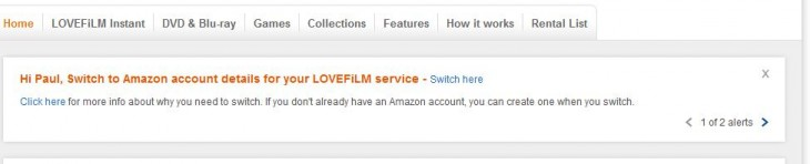 LF 730x148 European Netflix rival LoveFilm will now require you to log in with your Amazon account credentials