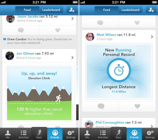 RunKeeper SocialFeed RunKeeper 3.5 for iOS hits the streets, makes it easier to brag about how fit you are