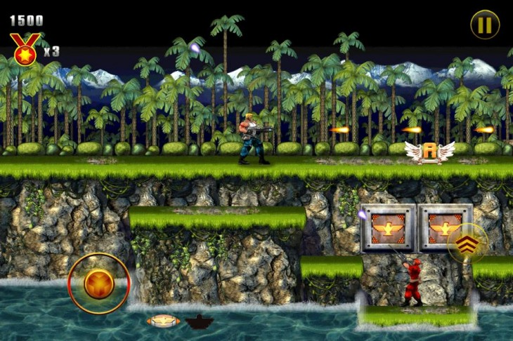 Screen 1 730x486 Gaming classic Contra lands on mobile with official Konami remake for iOS