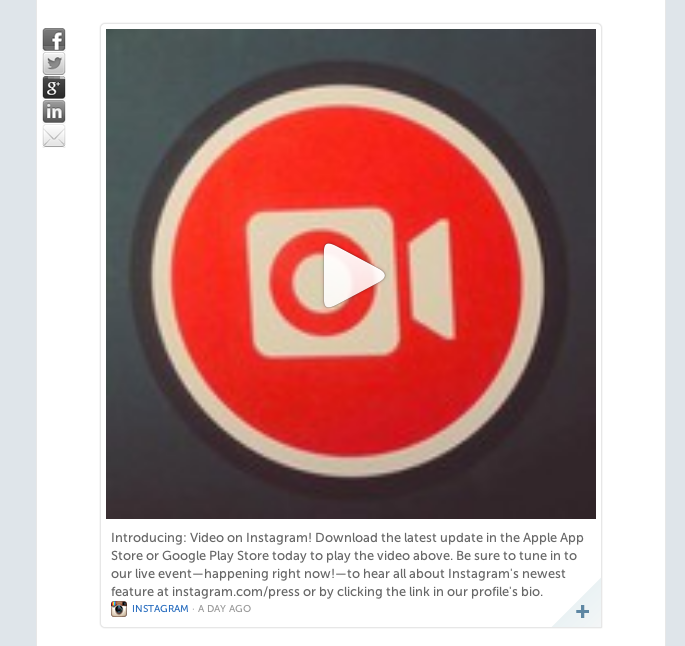 Screen Shot 2013 06 21 at 1.39.23 PM Storify adds support for Instagram videos to its social media content curation platform