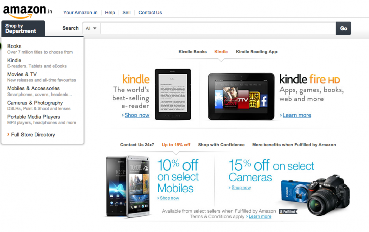 Screen shot 2013 06 25 at PM 01.13.44 730x459 Amazon beefs up its India Marketplace site as it starts selling mobile phones and cameras