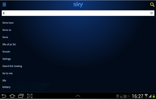 Sky Plus App Android Search Lions Rugby 520x332 BSkyB starts rolling out enhanced search feature for Sky+, letting you search by cast, keywords and more